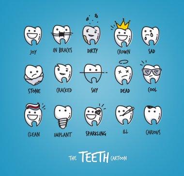 Teeth happy characters