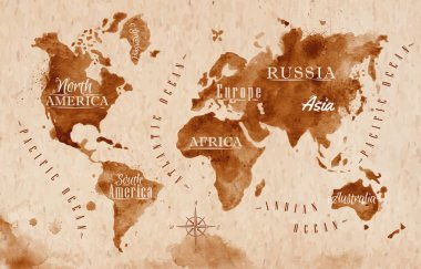 World map map retro
