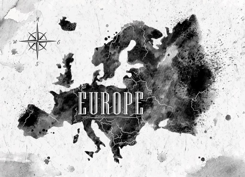 Ink Europe map