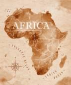 Mapa Afriky retro