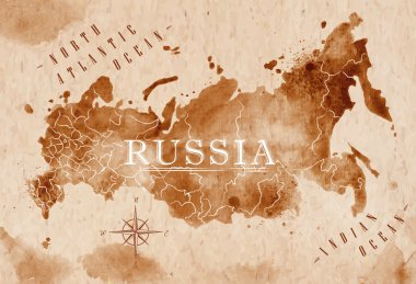Map Russia retro