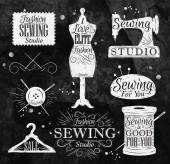 Fotografie Sewing symbol chalk