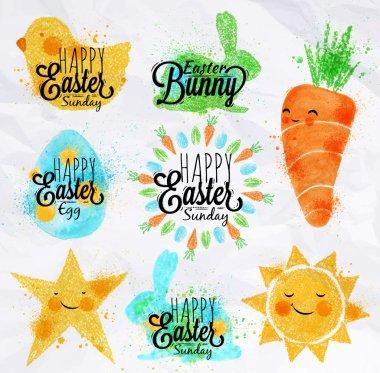 Happy easter symbols