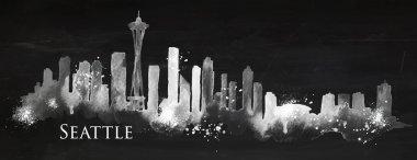 Silhouette chalk Seattle