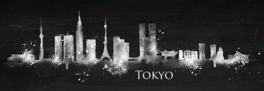 Silhouette chalk Tokyo