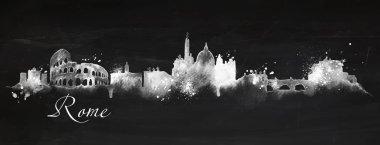 Silhouette chalk Rome