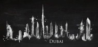 Silhouette chalk Dubai