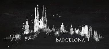 Silhouette chalk Barcelona