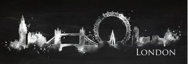 Silhouette chalk London