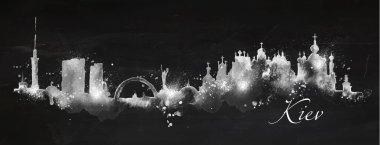 Silhouette chalk Kiev