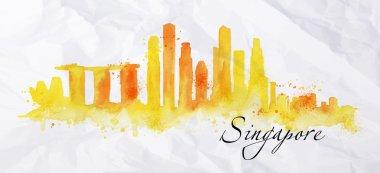 Silhouette watercolor Singapore