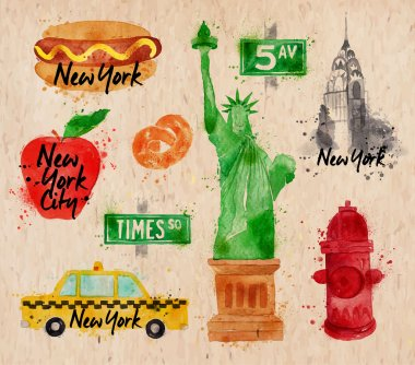 New York symbols kraft