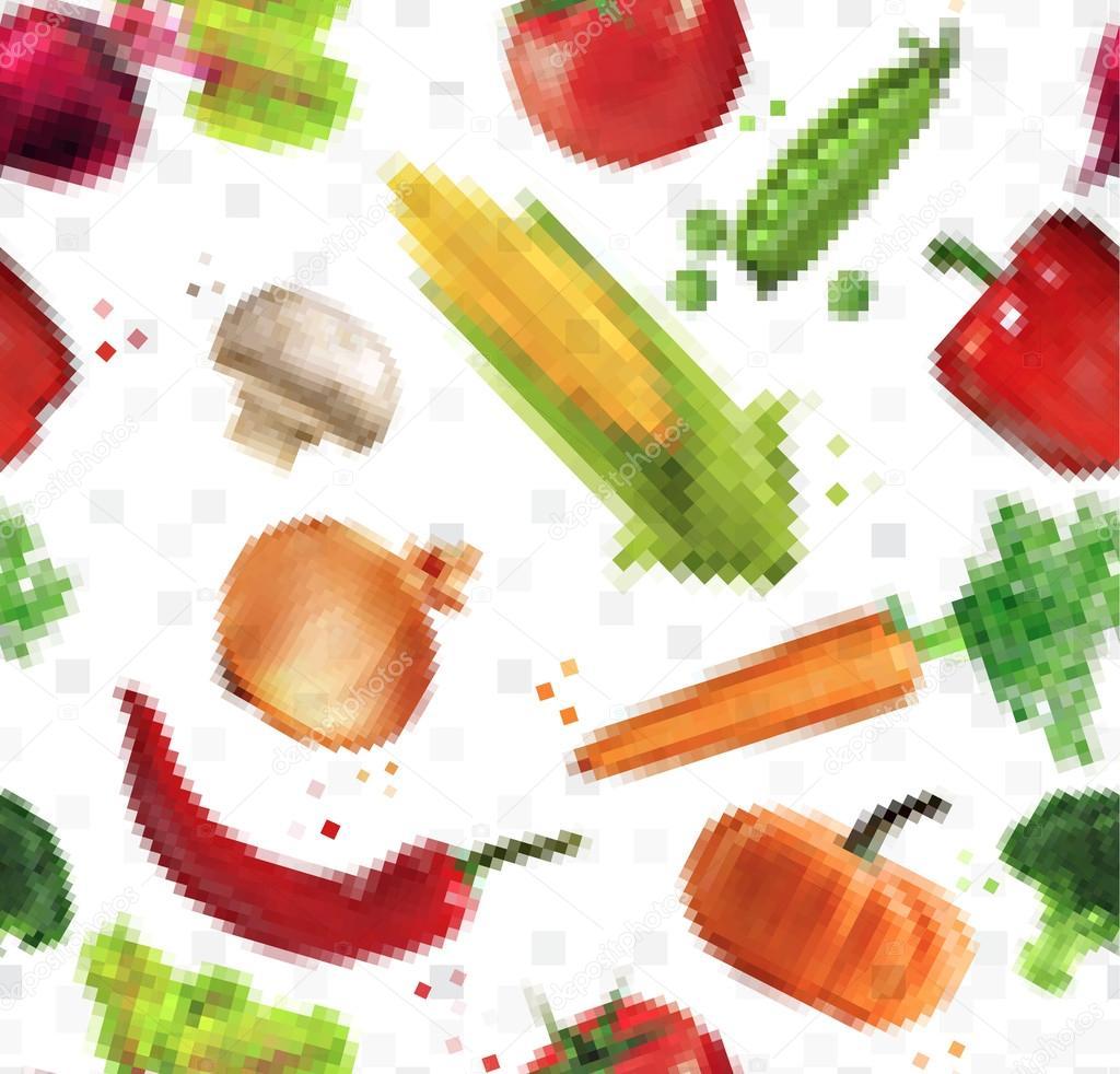 Légumes De Motif Pixel Image Vectorielle Anna42f 74334817