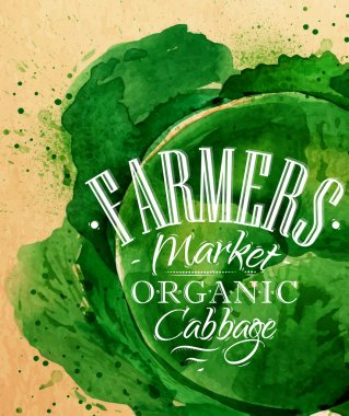 Poster farm cabbage