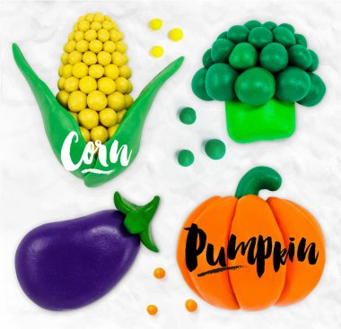 Plasticine vegetables pumpkin