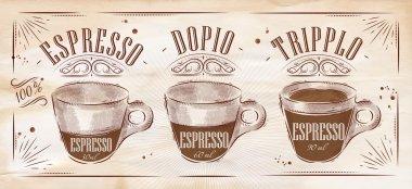 Poster espresso kraft