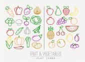 Barva ikony plochá ovoce zelenina