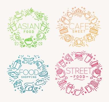 Food monograms color