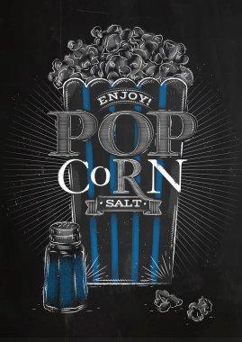 Poster popcorn salt black