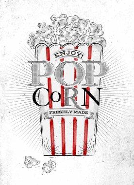 Poster popcorn fresh