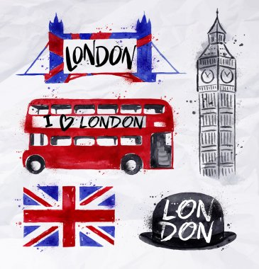 London watercolor signs