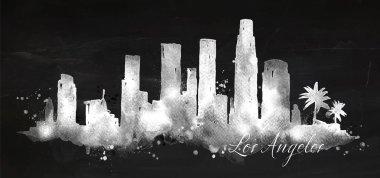 Silhouette chalk Los Angeles