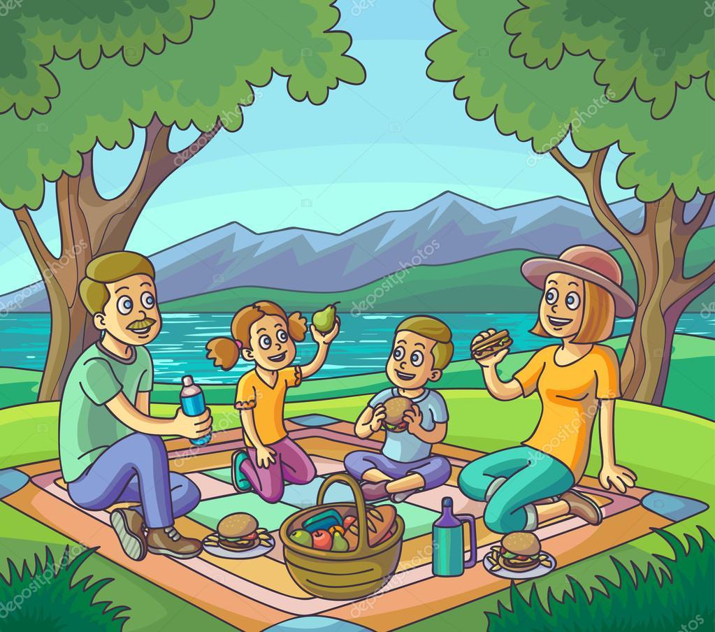 пикник рисунки отдых на природе нашем центре