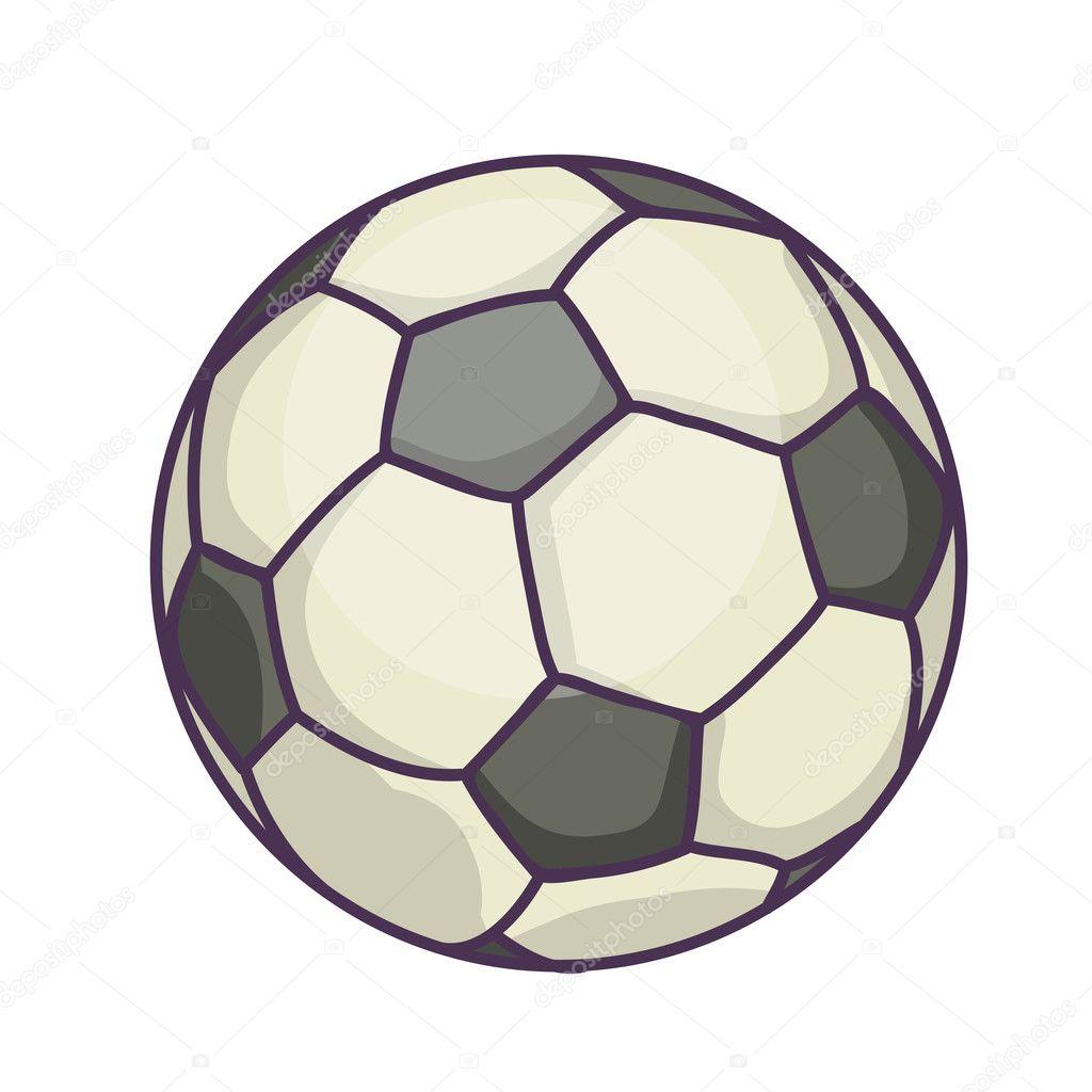 13bae0eef2031 Balón de fútbol o de fútbol. Ilustración de vectores aislado sobre fondo  blanco — Vector de ...