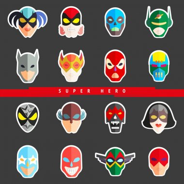 Super hero masks for characters
