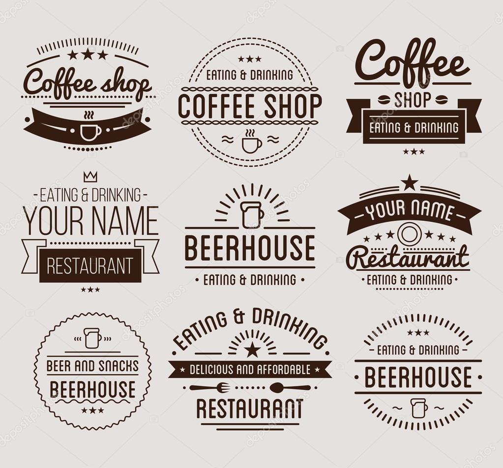 Coffee-Shop-Vorlage — Stockvektor © Sonulkaster #124147906