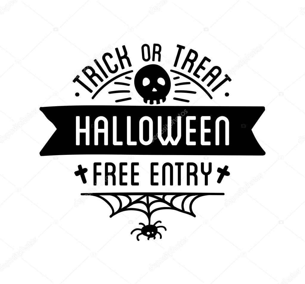 Happy Halloween logo — Stock Vector © Sonulkaster #124148788