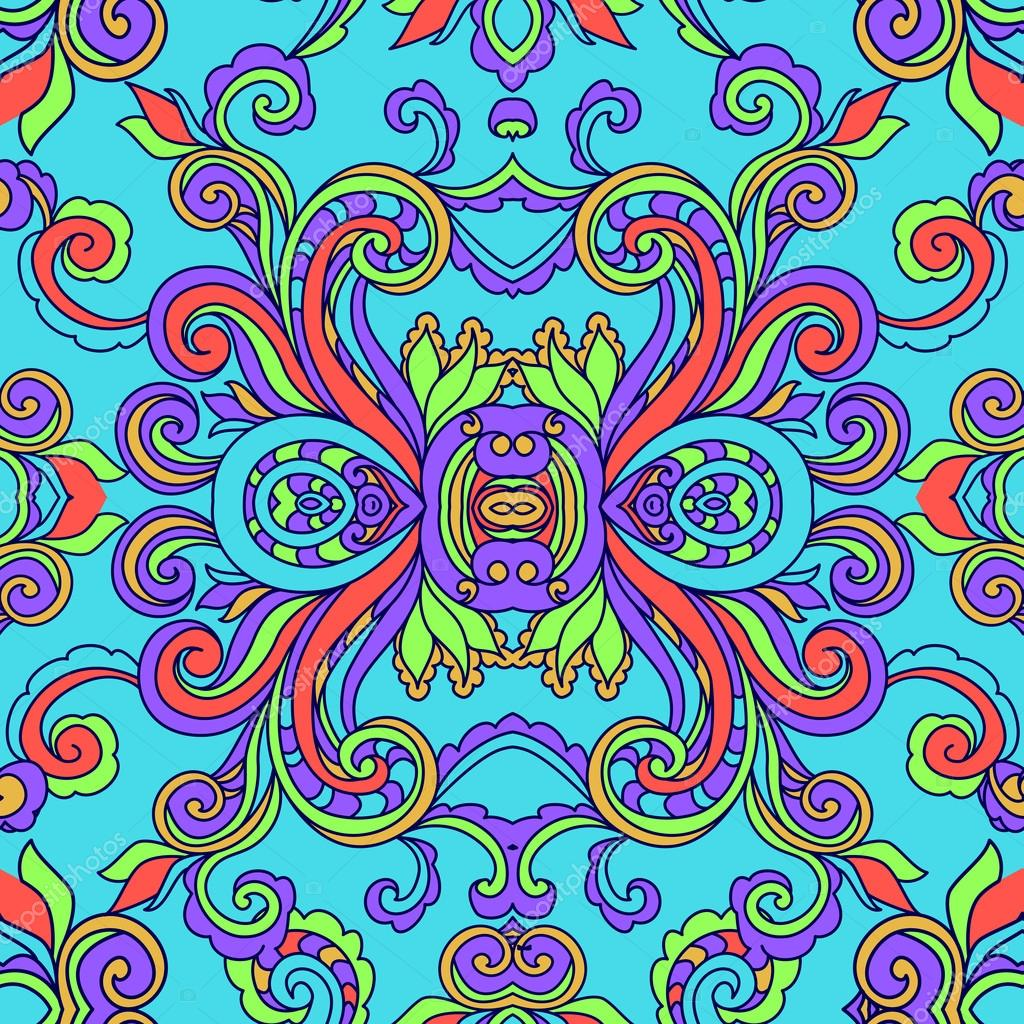Decorative abstract floral pattern
