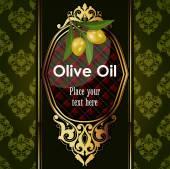 Fotografia Disegno decorativo dorato con rami di ulivo