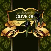 Fotografia Disegno decorativo con rami di ulivo