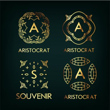 Set of luxury monogram designs