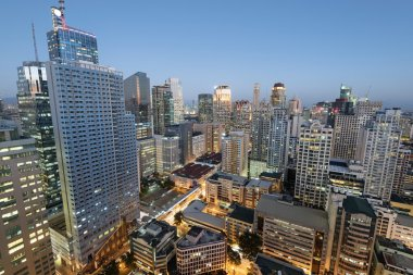 Makati Skyline in Metro Manila - Philippines.
