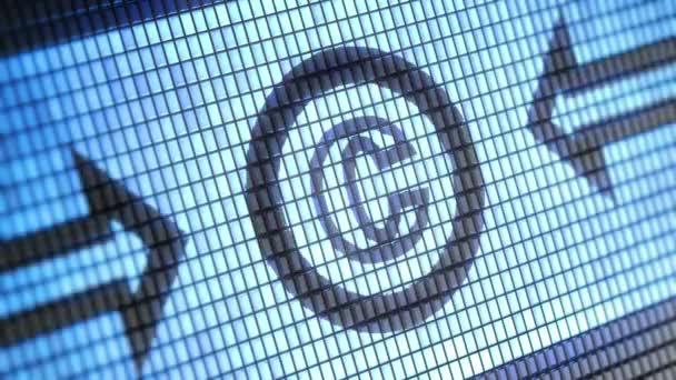 Autorských práv ikona na obrazovce