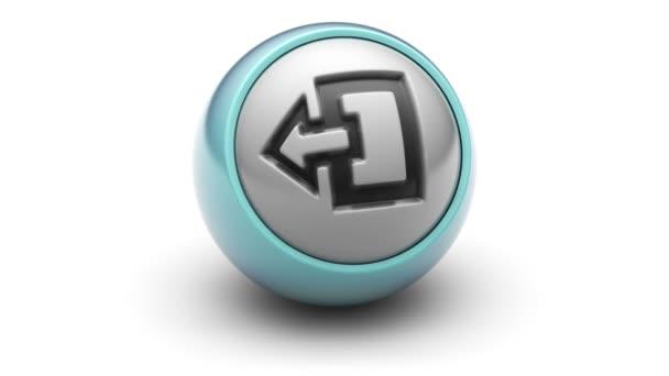 Konec ikona na míč.