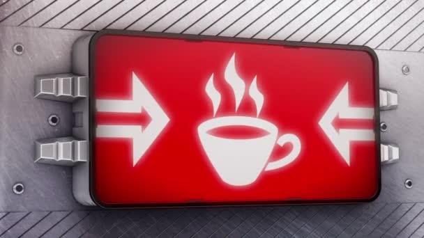 Káva ikona na vývěskách