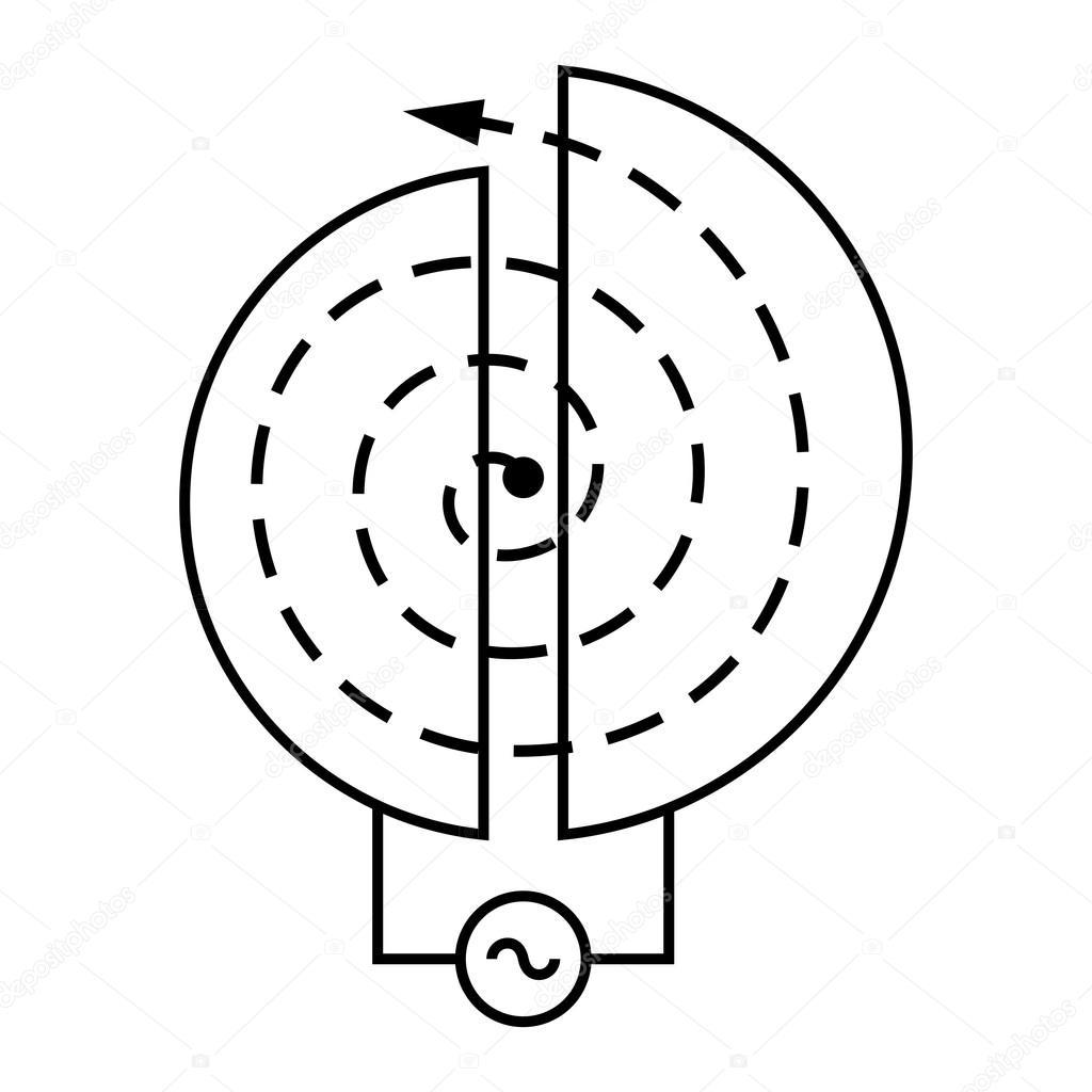 Particle accelerator electrical schematic Stock Vector Den