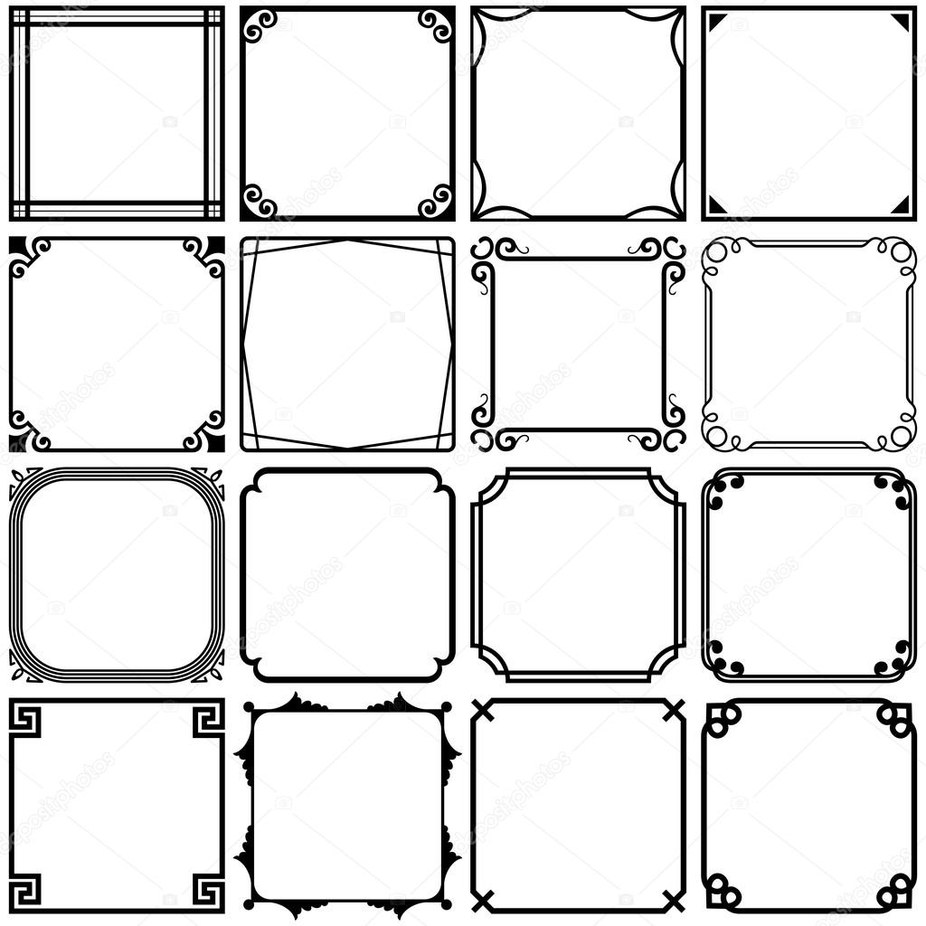 Simple frames — Stock Vector © Den.Barbulat #52619825