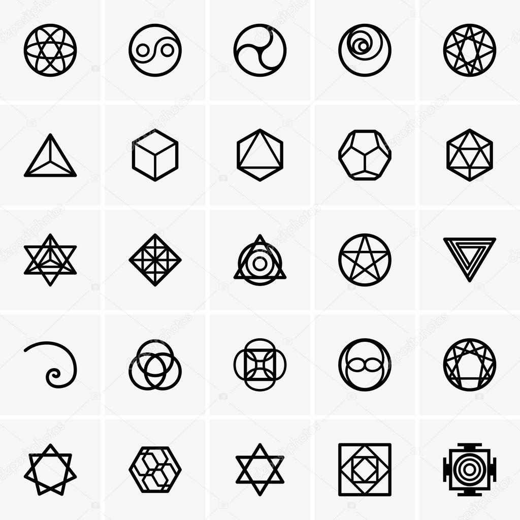 Sacred geometry icons