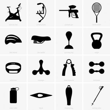 Sports equipment (shade pictures)