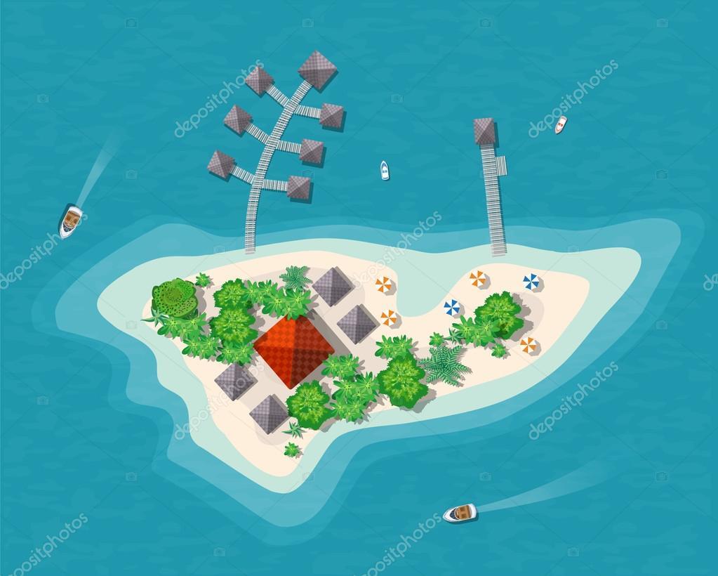 Island paradise view