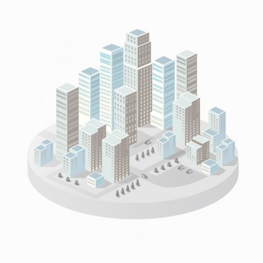 Background of the city  buildings, skyscrapers and houses. Urban drawings in a flat style. clip art vector