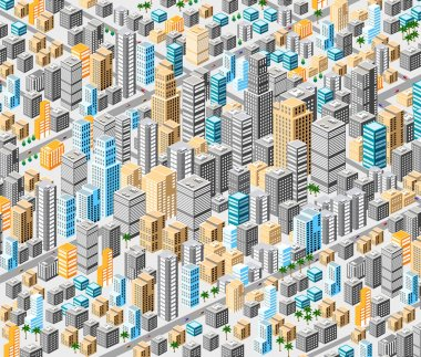 Background of isometric city
