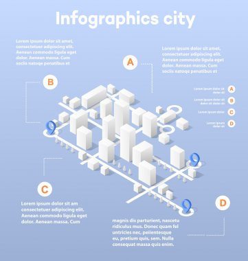 City isometric map