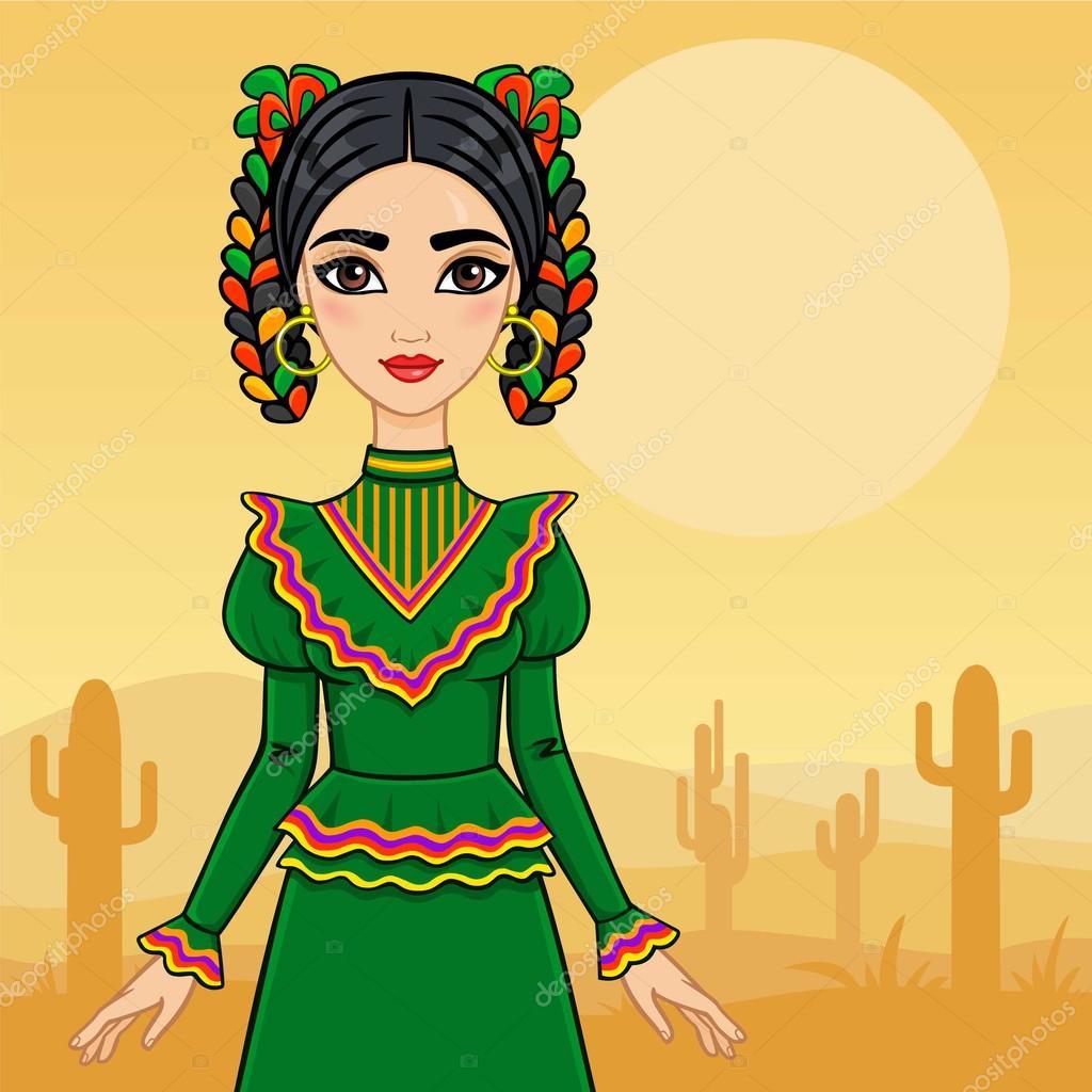 мексиканская телочка демонстрирует
