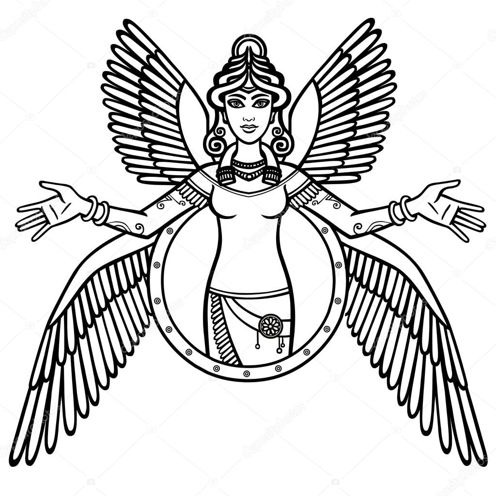 ENKI-SHIVA Depositphotos_117741016-stock-illustration-vector-illustration-the-stylized-goddess