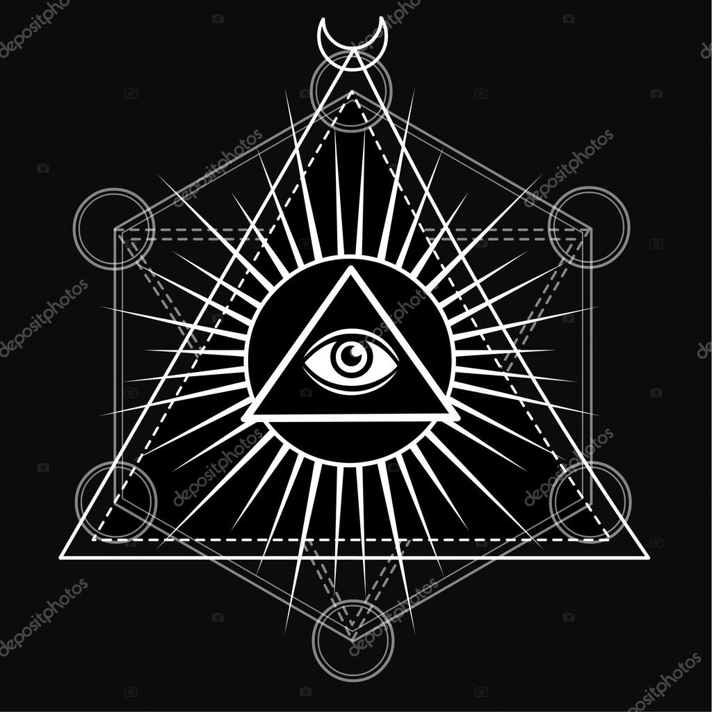 eye of providence all seeing eye inside triangle pyramid esoteric
